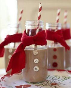 Christmas breakfast shakes