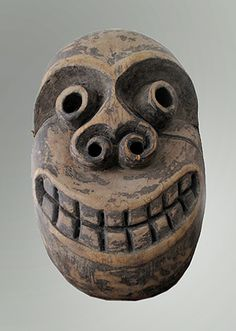 Shamans mask. Iban people, Borneo. Wood. Used in healing ceremonies.