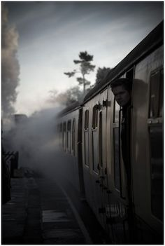 Travelling back in time by Mademoiselle Poirot By Train, Train Tracks, Train Rides, Train Trip, Yorkshire, Put Things Into Perspective, Trains, Ivy House, Important Things In Life