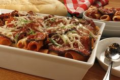 Baked Macaroni and Eggplant Neapolitan | MrFood.com