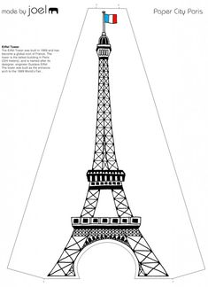 You can get the templates here. A brief description of the buildings is included so you can tell your children about Paris. Tres jolie!