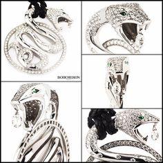 Boucheron 18k White Gold Trouble Diamond Pendant B&P 6.75ct  www.richdiamonds.com