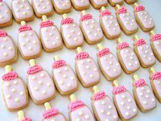 Baby Bottle Mini Sugar Cookies2  Dozen by acookiejar on Etsy, $27.95