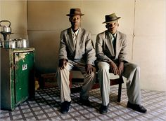"""In """"Inner Views,"""" currently on view at The Studio Museum, South African photographer Zwelethu Mthethwa offers an intimate glimpse into the lives of coal and gold miners, brick layers and sugar cane workers in Johannesburg, South Africa. Documentary Photography, Book Photography, Portrait Photography, South African Art, Contemporary African Art, Africa Art, African Diaspora, Book Images, Portrait"""