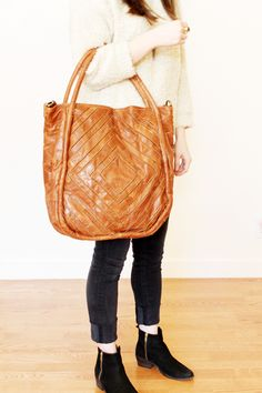 In love with this tote. The color, the size, the leather - oh-so-perfect.