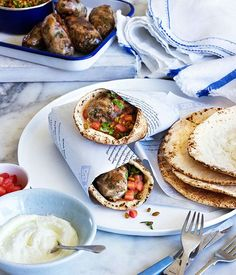 Australian Gourmet Traveller Cypriot recipe for sheftalies (Cypriot souvlaki) by George Calombaris.