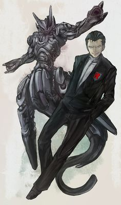 Giovanni and MewTwo ... Too cool for me to comprehend!