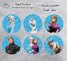 Your place to buy and sell all things handmade Frozen Princess, Princess Anna, Frozen Party, Frozen Birthday, Frozen Cake Topper, Cake Toppers, Frozen Centerpieces, Frozen Printable, Toy Story Cupcakes