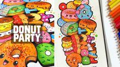 How I Doodle ~ Donut Party | Moleskine Doodle #1