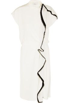 3.1 Phillip Lim Ruffled silk-crepe midi dress | NET-A-PORTER