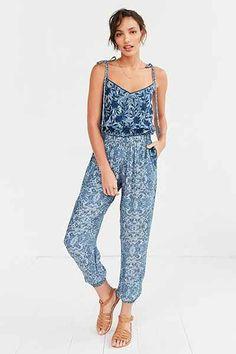 Carolina K Embroidered Flower Jumpsuit