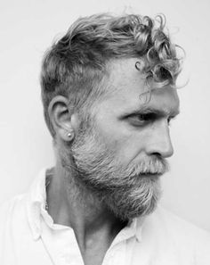 Cool Good Older Man with Curly Grey Hairstyle 2015 Check more at http://mensfadehaircut.com/good-older-man-with-curly-grey-hairstyle-2015/