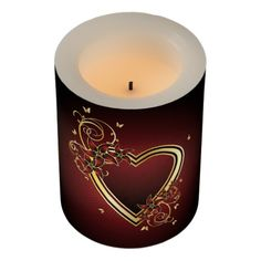 Classic Heart Small Flameless Candle