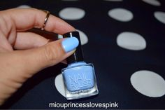 "miouprincess loves pink!: NOTD: H&M ""Baby Blue"" nails #baby_blue #hm #nails #mani #notd #above_knuckle #rings"