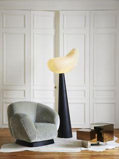 "Armchair ""Abbraccio"", Floor lamp ""Doge"", Coffe table ""Arcano"" by Mauro Fabbro (Alexandre Biaggi's edition)"