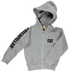Toddler Trademark Banner Zip Sweatshirt- Grey