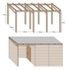Schuppen selber bauen (Diy House Garden)