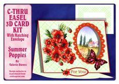 C-thru Easel 3D Card Kit - Summer Poppies
