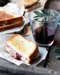 Grilled Ham and Cheese with Strawberry-Red-Wine Jam |