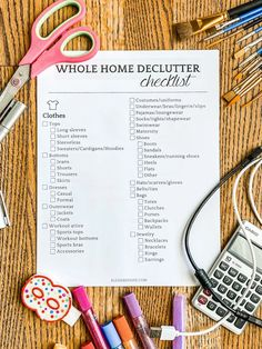 A 7 page free printable declutter checklist to make the process of purging your entire home from clutter faster and easier.