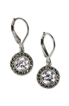 Judith Jack Marcasite & Cubic Zirconia Drop Earrings ($75)
