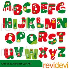 Christmas Alphabet clip art set features alphabet in Christmas red green theme. Complete abc learning collection of 26 letters.PLEASE NOTE:This is a clip art collection, and not text font.You can insert/ import this alphabet clip art to decorate your worksheet.This is not font, so you can't install it on your computer.Great resource for any school and classroom projects such as for creating bulletin board, printable, worksheet, classroom decor, craft materials, activities and games, and for…
