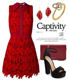 """""""Red Dress or Gown 3655"""" by boxthoughts ❤ liked on Polyvore featuring Alice + Olivia, Marc Jacobs, Steve Madden, Anne Sisteron and Links of London"""
