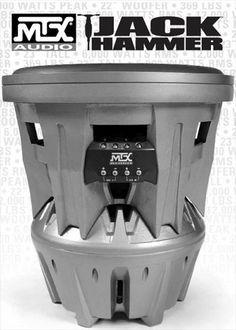 Jackhammer Subwoofer | MTX Jackhammer T9922-44 T 9922-44 Jack Hammer 56 cm Subwoofer der ...