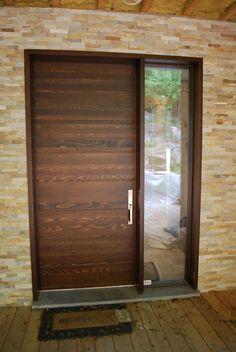 Wood front doors - Portes d'entrée en bois - www.PortesBourassa.com