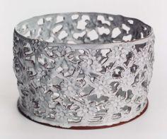 Kina Björklund lace work ceramics