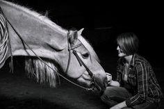 Fotoshooting: Janina und Habibbi / Fotoshooting mit Pferd Porträt / Horse