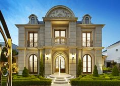 Awesome Grand French Inspired house in VIC Villa Plan, Villa Design, Modern House Design, House Outside Design, Classic Architecture, Mansions Homes, Facade House, Classic House, Exterior Design