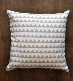 Pyramid Patterned Pillow Cover by Retro Menagerie // its a little hypnotic #productdesign
