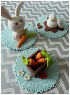 Spring! Fondant Cupcakes, Easter Cupcakes, Fondant Toppers, Easter Cookies, Easter Treats, Cupcake Cakes, Easter Cake Toppers, Garden Cupcakes, Valentine Cupcakes