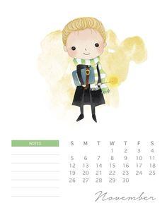 Descarga gratis este hermoso calendario de Harry Potter 2017 | Blog Hogwarts