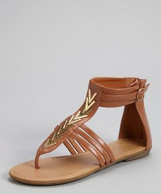 Love this Whiskey Chevron Channing Ankle-Strap Sandal by Mark & Maddux on #zulily! #zulilyfinds
