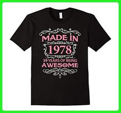 Mens 39th Birthday Gift T-Shirt Made In 1978 - 39 Years Old Shirt Large Black - Birthday shirts (*Amazon Partner-Link)