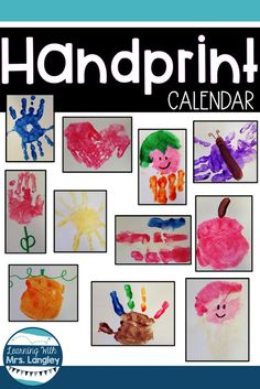 This handprint craft for preschool or kindergarten students is a fun FREE keepsake for parents and fun for kids to make! We start these right after Thanksgiving and have them ready as gifts for Christmas. Each month includes a cute poem and directions to create the perfect handprint for mom and for dad. These make great Mother's Day gifts too! #kindergartenclassroom #handprintcalendar #christmascraft #gifts