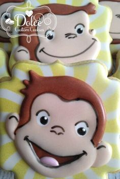 Dolce:  Monkey face cookies.  Adorable....
