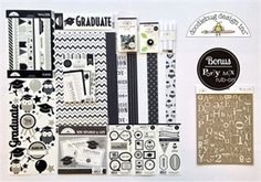 Exclusive Cap and Gown kit by Doodlebug Design. Only available at Archiver's while supplies last! Perfect for graduation scrapbooks and more. www.archiversonline.com