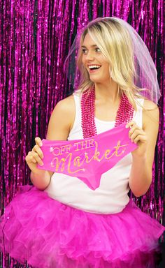 "Bachelorette Gift Idea or Lingerie Shower Idea - ""Off the Market"" panty with Gold sparkle rhinestuds!"