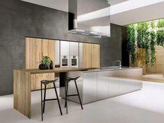 Home Interior Design, Kitchen Design, Table, Furniture, Home Decor, Apartment Ideas, Rooms, Kitchen, Small Kitchens