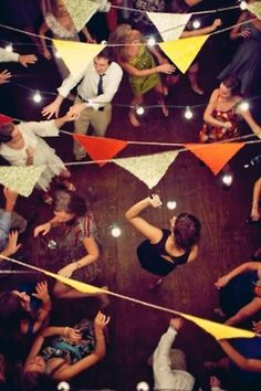 outdoor party! Bunting | Dancing | Lights
