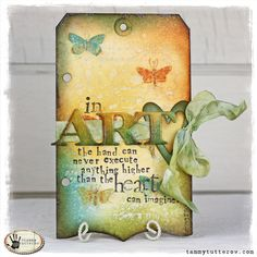 Tuesday Tutorial: In Art Art Journal Tag by @tammytutterow.
