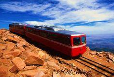 Pikes Peak Train 2014 Painting by MSchmidtPhotography.deviantart.com on @deviantART