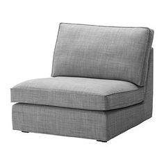 IKEA - KIVIK, One-seat section, Isunda gray, , KIVIK is a generous seating series with a soft, deep seat and comfortable support for your back.Seat cushions have a layer of memory foam that softly follows the contours of your body and gives comfortable support where needed.The one-seat section can be used on its own or together with additional one-seat sections or with a chaise from the same series.The cover is easy to keep clean as it is removable.10-year limited warrranty. Read about the…