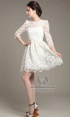 Bayan elbise çiçek dantelli