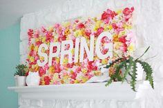 Spring Wallflower Sign