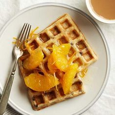 Chocolate-Orange Yeasted Waffles: It may seem odd to leave waffle batter out overnight, but it's perfectly safe and helps develop a yeasty flavor.