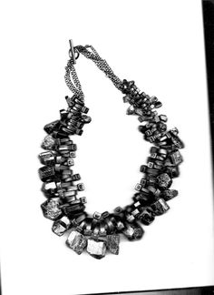 Black cable ties and Tourmaline stones #contemporary #jewelry